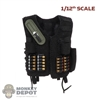 Vest: DamToys 1/12th Mens SAS Tactical Vest w/Shotgun Shells & Knife (READ NOTES)
