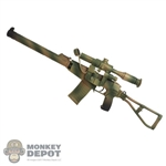 Rifle: DamToys Camo AS VAL Assault Rifle w/PSO-1 Optical Sniper Sight