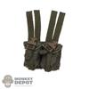Pouch: DamToys MOLLE OD Green Double Grenade Pouch