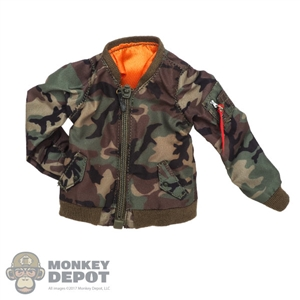 Coat: DamToys Female Woodland Camo Pilot Jacket