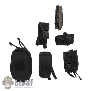 Pouch: DamToys 6 Piece Black Pouch Set
