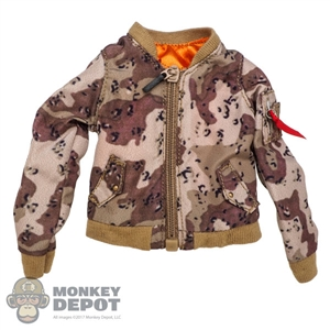 Coat: DamToys Female Chocolate Chip Camo Pilot Jacket