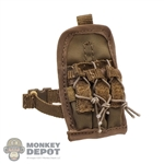 Pouch: DamToys Coyote Brown Triple Ammo Leg Drop
