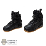 Boots: DamToys Female Black Trend Boots