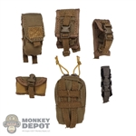 Pouch: DamToys 6 Piece Coyote Brown Pouch Set