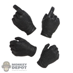 Hands: DamToys Mens Black Molded Hand Set