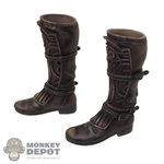 Boots: DamToys Mens Brown Molded High Boots