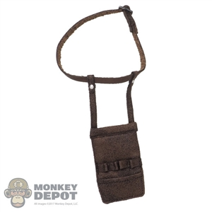 Belt: DamToys Mens Thin Brown Belt w/Pouch