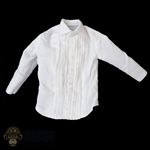 Shirt: DamToys Mens White Tuxedo-Like Shirt (Light Stains)