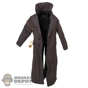 Coat: DamToys Mens Weathered Overcoat w/Pocket Watch