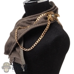 Scarf: DamToys Mens Green Scarf w/Chain