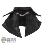 Cape: DamToys Mens Black Leather-Like Shoulder Cape
