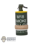 Grenade: DamToys M18 Smoke Canister Yellow w/Band