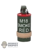 Grenade: DamToys M18 Smoke Canister Red w/Band