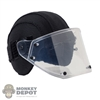 Helmet: DamToys Mens Black 2DT Helmet w/Face Shield
