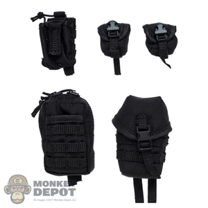Pouch: DamToys 5 Piece Black Pouch Set