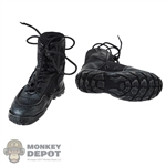 Boots: DamToys Mens Black Combat Boots