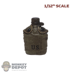 Canteen: DamToys 1/12th Molded M1944 Canteen w/Pouch (Weathered)