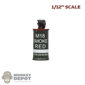 Grenade: DamToys 1/12th M18 Red Smoke Grenade