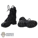 Boots: DamToys Mens Black Tactical Boots
