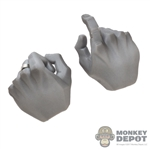 Hands: DamToys Mens Grey Weapon Grip w/Ring
