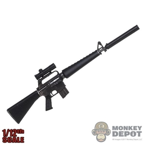Rifle: DamToys 1/12th M16A1 Rifle w/Suppressor + Scope