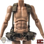 Belt: DamToys 1/12th Mens M1956 w/Harness, Pouches + Grenades
