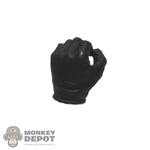 Hand: DamToys 1/12th Mens Black Molded Left Holding Grip Hand
