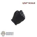 Hand: DamToys 1/12th Mens Black Molded Right Fist Hand