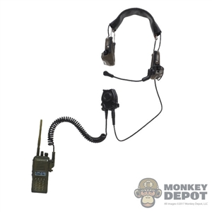 Radio: DamToys Green VX Radio w/Peltor Comtec II Headset