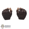 Hands: DamToys Mens Molded Brown Fingerless Holding Grip