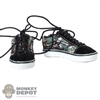 Shoes: DamToys Mens Black/Camo Sneakers