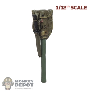Shovel: DamToys 1/12th Molded M1956 Entrenching Tool w/Cover + Knife