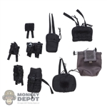 Pouch: DamToys Black 9 Piece Pouch Set