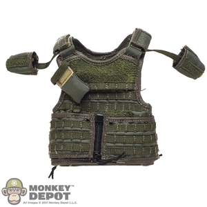 Vest: DamToys Mens OD Green RAV (Releasable Assault Vest) w/Assaulter Back Panel