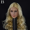 Head: DS Toys Female Head with Long Curly Blonde Hair (DS-D003B)