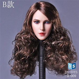 Head: DS Toys Female Head Curly Hair (DS-D009B)