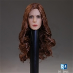 Head: DS Toys Female Head with Long Curley Hair (DS-D007)