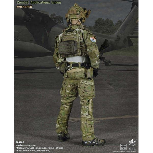 boxed figure e s tier 1 smu part v c a g assault team breacher es 26020r