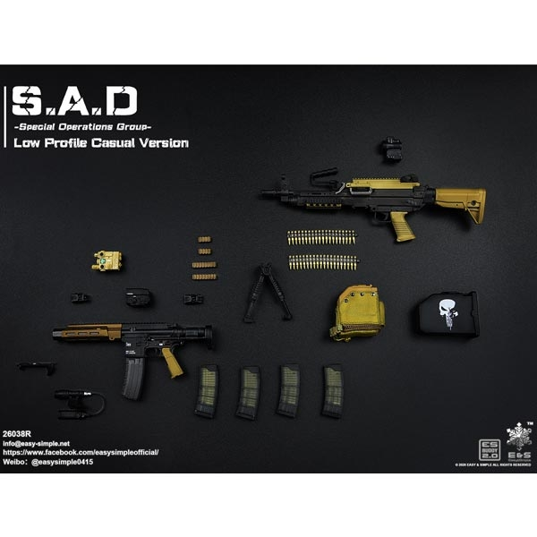 Easy/&Simple 1//6 Es26038r S.A.D Special Operation Group Low Profile Casual Ver