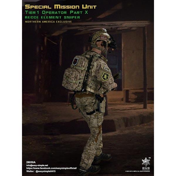 Uniform for ES 26030A Special Mission Unit Part X RECCE Element Sniper 1//6 12/'/'