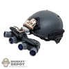 Helmet: Easy & Simple Wolf Grey Airframe Helmet w/System NVG Mount & GPNV Quadeye NV System w/Battery Pack