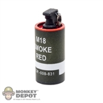 Grenade: Easy & Simple M18 Red Smoke Grenade