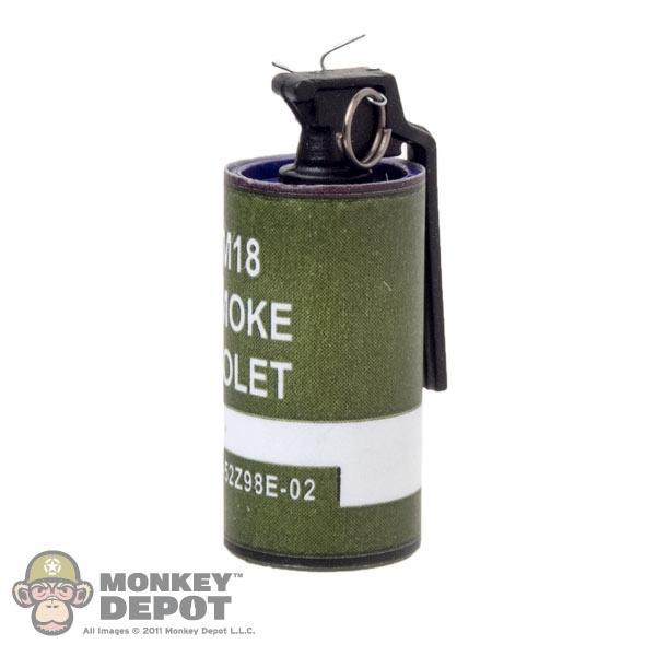 Monkey Depot Grenade Easy Amp Simple M18 Purple Smoke Grenade