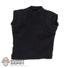 Shirt: Easy & Simple Black Sleeveless T-Shirt