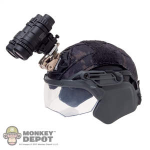 Helmet: Easy & Simple FAST Helmet w/Chops, Flip Up Visor & NVG