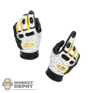 Hands: Easy & Simple White & Black Pilot Gloves