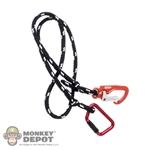 Rope: Easy & Simple Black/White Rope w/D-Ring