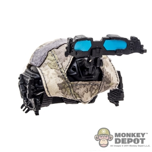 Helmet: Easy & Simple FAST Ballistic w/Camo Cover & Hyperspectral Imaging Goggles System