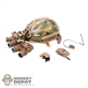 Helmet: Easy & Simple FAST Ballistic w/NVG Dual Power Aviation Mount, Battery & Light